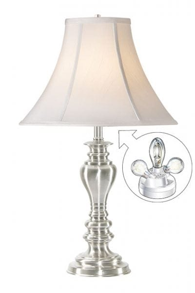 Microsun Statesman Brushed Nickel Table Lamp